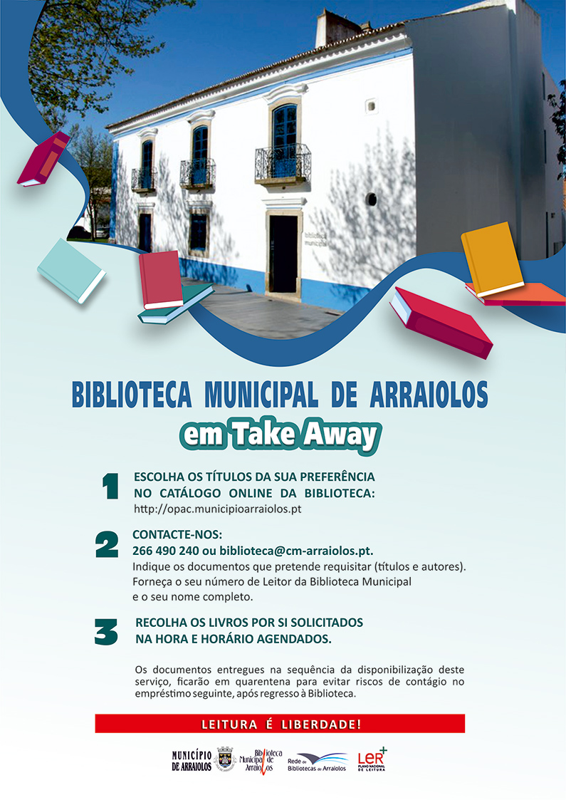 Biblioteca Municipal de Arraiolos em Take Away